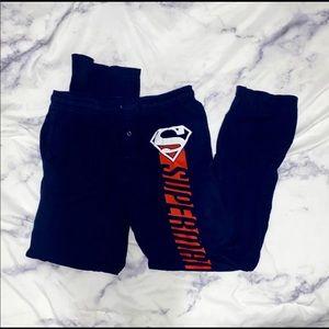 Men's Superman pajamas.